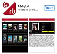 Skærmbillede fra RBdigital appen, der viser nogle af de magasiner, der kan hentes i appen