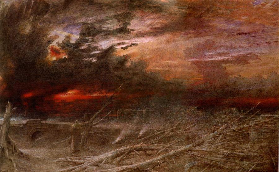 Maleri: apocalypse af Albert Goodwin