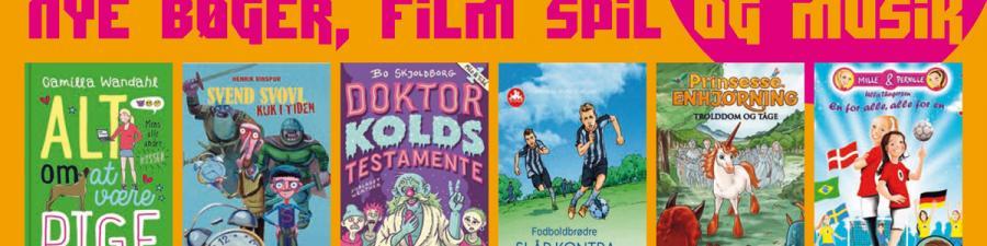 6 forsider fra nye bøger for børn