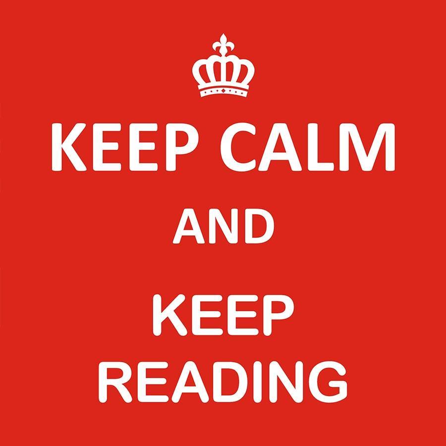 Grafik: Keep calm and keep reading