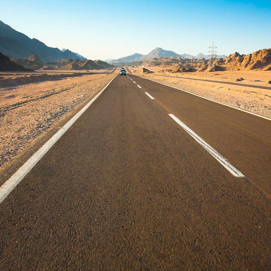 Foto: lige vej i USA